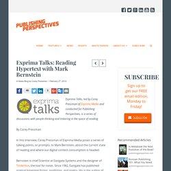 Exprima Talks: Reading Hypertext with Mark Bernstein