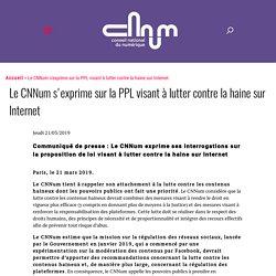 Le CNNum s'exprime sur la PPL visant à lutter contre la haine sur Internet