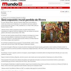 Será expuesto mural perdido de Rivera