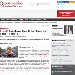 Frigide Barjot expulsée de son logement social : analyse