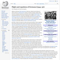 Flight and expulsion of Germans (1944–50