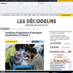 Combien d'expulsions d'immigrés clandestins en France?