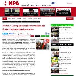 Rroms : « Les expulsions sont une violation des droits fondamentaux des enfants »