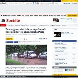 Des migrants tunisiens expulsés du parc des Buttes-Chaumont à Paris