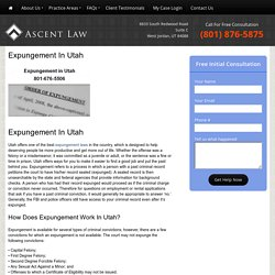 Expungement in Utah - 801-676-5506 - Free Consultation