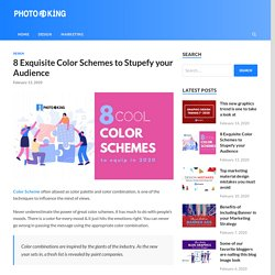 8 Exquisite Color Schemes to Stupefy your Audience - PhotoADKing Blog