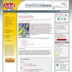 AdLit.org: Adolescent Literacy - The Exquisite Prompt