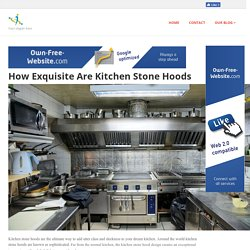 Kitchen Stone Hoods