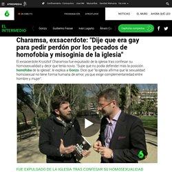 """Charamsa, exsacerdote: """"Dije que era gay para pedir perdón por los pecados de homofobia y misoginia de la iglesia"""""""