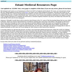 Extant Medieval Resources Page