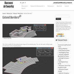 Extend Borders – Racoon Artworks