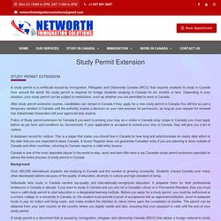 Extend your study permit in canada, how to apply - Networth Immigration