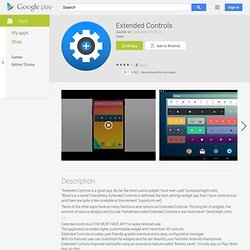 Extended Controls - AndroidMarket