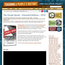 » The People Speak – Extended Edition – DVD Zinn Education Project