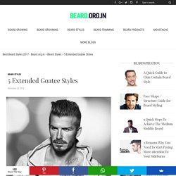 5 Extended Goatee Styles