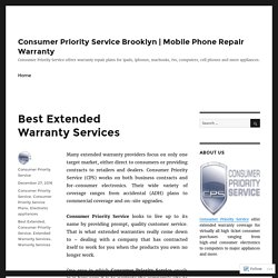 Best Extended Warranty Services – Consumer Priority Service Brooklyn