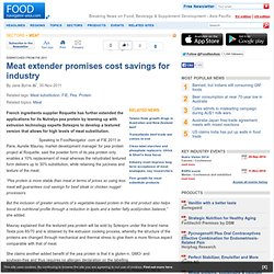 Meat extender promises cost savings for industry