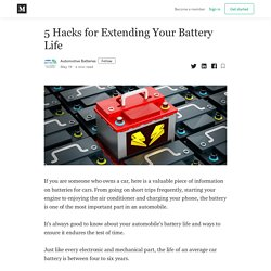 5 Hacks for Extending Your Battery Life