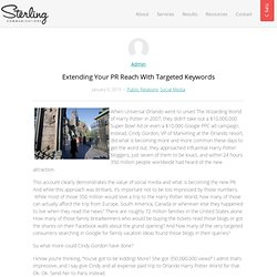Extending Your PR Reach With Targeted Keywords | Sterling Communications