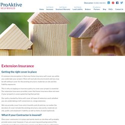 Online Extension Insurance Policy at Reasonable Cost