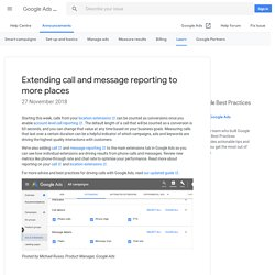 Extending call and message reporting to more places - Google Ads Help