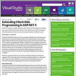 Extending Client-Side Programming in ASP.NET 4