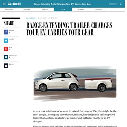 Range-Extending Trailer Charges Your EV, Carries Your Gear