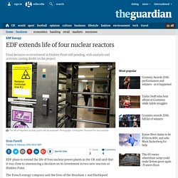 EDF extends life of four nuclear reactors