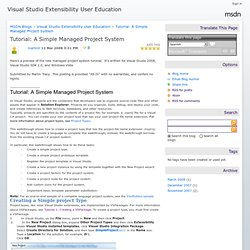Tutorial: A Simple Managed Project System - Visual Studio Extensibility User Education