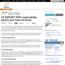 13 ASP.NET MVC extensibility points you have to know