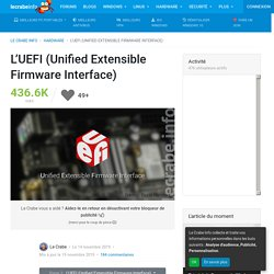 L'UEFI (Unified Extensible Firmware Interface)