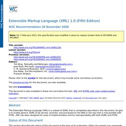 Extensible Markup Language (XML) 1.0 (Fifth Edition)