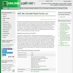 Extensión de archivo XSPF