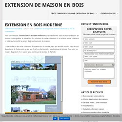 Extension en bois moderne