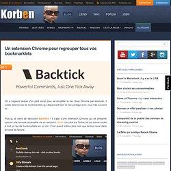 Un extension Chrome pour regrouper tous vos bookmarklets « Korben Korben