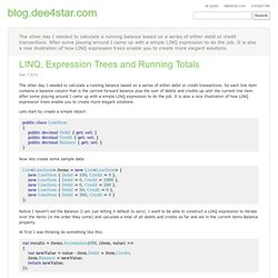 A LINQ extension method to calculate a running total - blog.dee4star.com