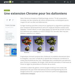 Une extension Chrome pour les daltoniens - Green IT