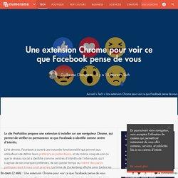 Une extension Chrome pour voir ce que Facebook pense de vous - Tech