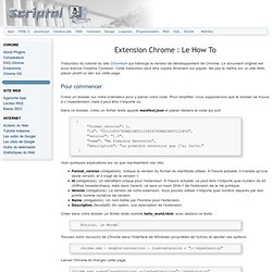 Extension Chrome : How To