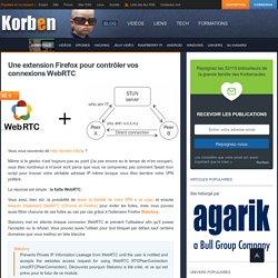 Une extension Firefox pour contrôler vos connexions WebRTC