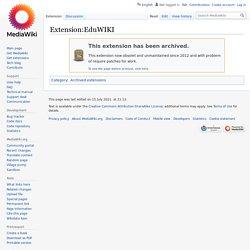 Extension:eduWIKI