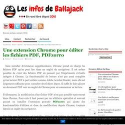 Une extension Chrome pour éditer les fichiers PDF, PDFzorro