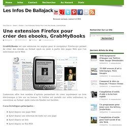 Une extension Firefox pour créer des ebooks, GrabMyBooks