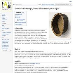 Extension inkscape, boite flex forme quelconque - Kernel Fablab Lannion