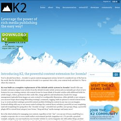 K2 | The powerful content component for Joomla! developed by JoomlaWorks