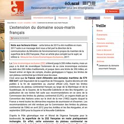 """""""L'extension du domaine maritime français""""-oct 2015-Géoconfluences"""