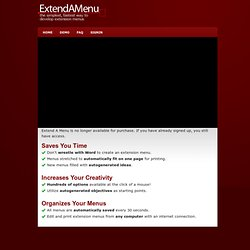 Extension Menus By Extend A Menu