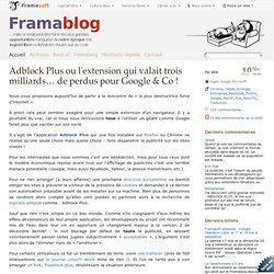 Adblock Plus ou l'extension qui valait trois milliards… de perdus pour Google & Co !
