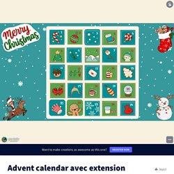 Advent calendar avec extension copie by nathaliepledran on Genially