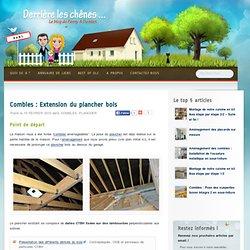 Combles : Extension du plancher bois
